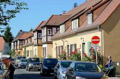 Restauriertes Gebäude / Cottage-Architektur in der Siedlung Stadtheide in Potsdam. Die denkmalgeschützen Wohnhäuser wurde 1923 fertiggestellt.