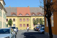 Restauriertes Gebäude, Wohnhäuser in der Siedlung Stadtheide in Potsdam. Die denkmalgeschützen Wohnhäuser wurde 1923 fertiggestellt.