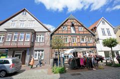 Geschäftshäuser - Wohnhäuser, Lange Strasse von Dannenberg / Elbe.