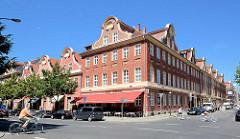 Beim Holländischen Viertel in Potsdam;   das Holländische Viertel wurde zwischen 1733 und 1742 im Zuge der zweiten Stadterweiterung unter Leitung des holländischen Baumeisters Johann Boumann erbaut.