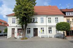 Geschäftshäuser am Marktplatz von Zehdenick.