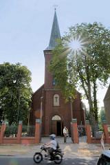 Katholische Kirche Mariä Himmelfahrt in Zehdenick / Brandenburg.