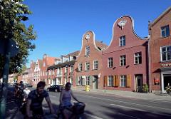 Giebelhäuser im Holländischen Viertel von Potsdam, Kurfürstenstrasse.  Das Holländische Viertel wurde zwischen 1733 und 1742 im Zuge der zweiten Stadterweiterung unter Leitung des holländischen Baumeisters Johann Boumann erbaut.