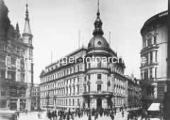 Stadthaus an der Stadthausbrücke in der Hamburger Neustadt - 1892 als als Sitz der Stadtverwaltung und der Polizei erbaut, Architekt  Carl Johann Christian Zimmermann.