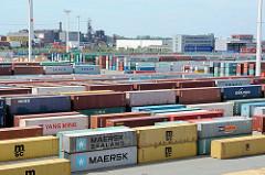 Containerlager auf dem Hamburger Container Terminal Eurogate.
