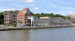 Gebäude vom Altonaer Kaispeicher in Hamburg Ottensen - historische Hamburger Industriearchitektur.