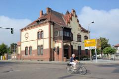 Ehem. Kaiserliches Postamt von Zehdenick, erbaut 1899 - Klinkerarchitektur.