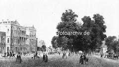 Altonaer Bahnhof - Blick zur Palmaille, ca. 1846.