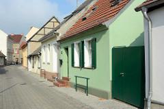 Restaurierte Wohnhäuser in der Hirtenstrasse von Zehdenick.