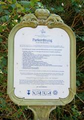 Parkordnung für den Park Babelsberg in Potsdam - Stiftung Preussischer Schlösser und Gärten Berlin-Brandenburg.