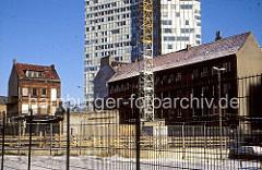 Abriss und Baustelle im Hamburger Neustadt - Neubau vom Unileverhaus in der Neustadt Hamburgs.