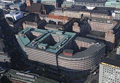 Bild vom Kontorhausviertel in der Hamburger Altstadt - Blick auf den Sprinkenhof.