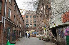 Hinterhof im Gängeviertel - Hamburg Neustadt.