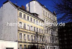 Gründerzeitarchitektur in der Speckstrasse - Hamburger Neustadt - 1976.