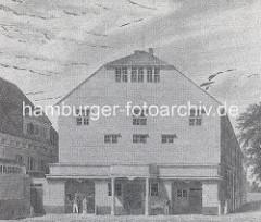 Das 1765 eröffnete Komödienhaus am Hamburger Gänsemarkt, abgerissen 1877.
