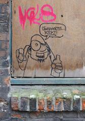 Graffiti im Gängeviertel / Hamburger Speckstrasse.