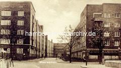 Hamburger Architekturfotos aus der Jarrestadt, Meeweinstrasse in Winterhude - Architekt Richard Ernst Oppel.