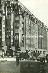 Kontorhaus Montanhof im Hamburger Kontorhausviertel - das Kontorgebäude wurde von den Architekten Distel + Grubitz entworfen und 1926 fertig gestellt.