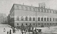 Hamburger Johanneum auf dem Domplatz - fertiggestellt 1840, Architekten  Carl Ludwig Wimmel und Franz Gustav Forsmann; Blick vom Alten Fischmarkt.