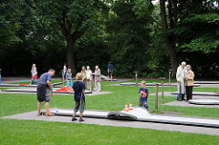 Minigolfplatz im Stadtpark in Hamburg Winterhude.