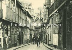 Historisches Gängeviertel in Hamburg - Wohnhäuser im Schulgang.