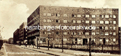 Klinker-Wohnhäuser am Wiesendamm, Ecke Neckelmannstrasse in Hamburg Winterhude / Jarrestadt.