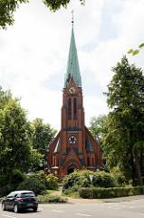 Maria Magdalenen Kirche in Reinbek, neogotische Backsteinkirche - erbaut 1901