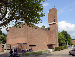 Nathan Söderblom Kirche in Reinbek - Architekt Friedhelm Grundmann, erbaut 1966.