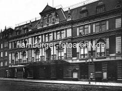 Aussenansicht - Fassade vom Conventgarten in der Kaiser-Wilhelm-Straße der Hamburger Neustadt.