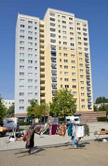Siedlung Am Schlaatz in Babelsberg / Potsdam. Großwohnsiedlung in industrieller Bauweise zwischen 1980 und 1987 errichtet.