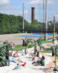 Golfanlage im ehem. Hafengebiet von Hamburg Rothenburgsort; auf dem Areal befanden sich früher Hafenbetriebe.