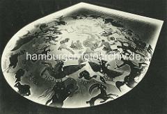 Decke mit Malerei - Sternzeichen im Planetarium Hamburger Stadtpark.
