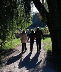 Herbstspaziergang im Gegenlicht - Bilder aus dem Hamburger Stadtpark.