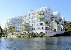 Wohnungsneubau - Wohnblock am Rückerskanal / Mittelkanal in Hamburg Hamm.
