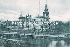 Anleger Winterhuder Kai am Winterhuder Fährhaus - historische Fotos aus den Hamburger Stadtteilen.