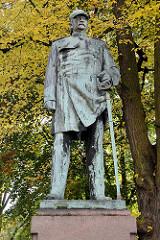 Bismarck Denkmal in Hamburg Altona, 1898 - Bildhauer Adolph Brütt.