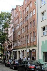 Mietshaus Alter Steinweg, errichtet 1761 - im Hinterhof befand sich der Wohnhof Paradieshof, Teil des Gängeviertels in der Hamburger Neustadt.