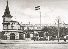 Historische Ansicht vom Winterhuder Fährhaus in Hamburg Winterhude.