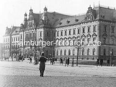 Historisches Bild vom Hamburger Strafjustizgebäude.