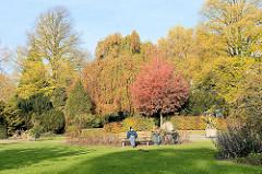 Herbstfarben / Herbstbäume und Sträucher  im Botanischen Sondergarten in Hamburg Wandsbek.
