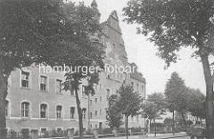 Historisches Foto vom Amtsgericht Oranienburg, erbaut 1906 - Entwurf königlichen Kreisbauinspektors Baurat Jaffé.