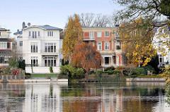 Häuser / Stadtvilla am Rondeelteich in Hamburg Winterhude.
