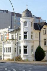 Erkerturm - Jugendstilarchitektur von 1905; historisches Gebäude an der Wandsbeker Chausse im Hamburger Stadtteil Wandsbek.