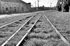 Eisenbahngleise in Theresienstadt / Terezin.