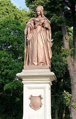 Louise-Henriette-Denkmal von Wilhelm Wolff (1858) - Schlossplatz Oranienburg.