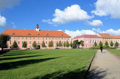 Marktplatz von Terezin, Theresienstadt - ehem. Paradeplatz der Garnision.