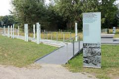 Denkmal beim ehem. Klinkerwerk Oranienburg - Großziegelei und Aussenlager vom KZ Sachsenhausen.