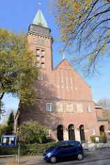 Versöhnungskirche in Hamburg Eilbek, erbaut 1916 - 1920 - Architekt Fernando Lorenzen.