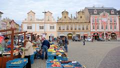 Karlsplatz / Karlovo náměstí in Kolin -  städtische Architektur des späten Barock, Renaissance und klassizistischen Historismus.