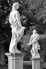 Skulpturen im Schlossgarten, Schloss Rheinsberg.